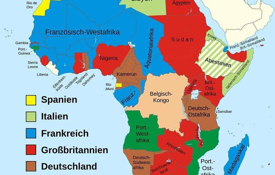 Afrika Karte Deutsch.1884 Wurde Afrika Auf Kongo Konferenz Menschenfeindlich Verteilt
